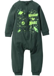 Pyjama «Glow in het Dark», bpc bonprix collection, donkergroen