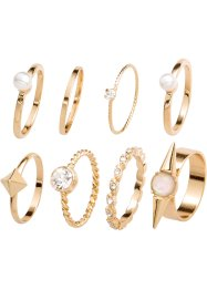 Ringen (8-dlg. set), bpc bonprix collection, goudkleur
