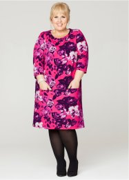 Jurk, bpc bonprix collection, mat pink met print