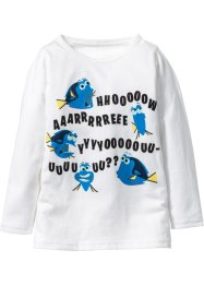 Longsleeve «Finding Dory», wolwit met print «Finding Dory»