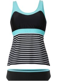 Tankini (2-dlg. set), bpc bonprix collection, zwart/wit gestreept