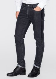 Stretchjeans slim fit straight, RAINBOW, antraciet denim