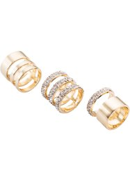 Ring (3-dlg. set), bpc bonprix collection, goudkleur