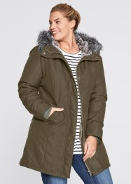 Parka, bpc bonprix collection, donkerolijfgroen