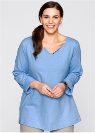 Shirt, bpc bonprix collection, parelblauw