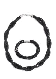 Collier+armband (2-dlg. set), bpc bonprix collection, zwart