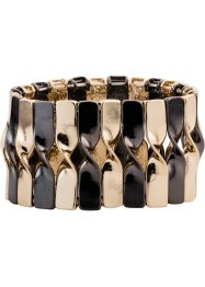 Armband, bpc bonprix collection, light gold/ gun silver