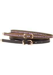 Riem (set van 2), bpc bonprix collection, zwart/etno