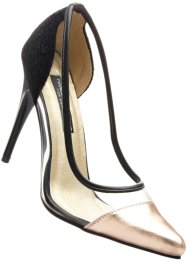 Pumps, Marcell von Berlin for bonprix, zwart/koperkleur