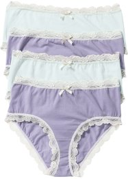 Maxislip (set van 4), bpc bonprix collection, viooltjeslila/pastelmint