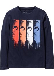 Longsleeve, bpc bonprix collection, donkerblauw met print