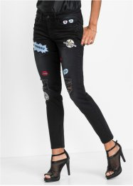 Skinny jeans, Marcell von Berlin for bonprix, black denim