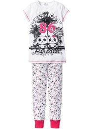 Pyjama (2-dlg. set), bpc bonprix collection, wit/zwart