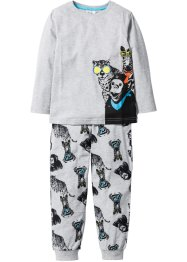 Pyjama (2-dlg. set), bpc bonprix collection, lichtgrijs gemêleerd