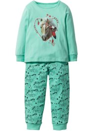 Pyjama (2-dlg. set), bpc bonprix collection, mentholblauw
