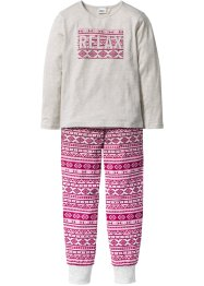 Pyjama (2-dlg. set), bpc bonprix collection, ecru gemêleerd