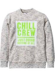 Sweatshirt, bpc bonprix collection, wolwit gemêleerd