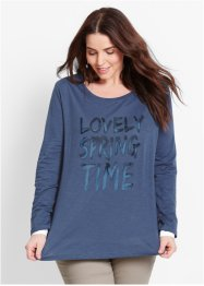 Longsleeve, bpc bonprix collection, indigo met print