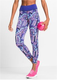 7/8-legging, bpc bonprix collection, saffierblauw gedessineerd