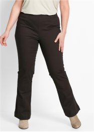 Stretchbroek «bootcut», bpc bonprix collection, donkerbruin