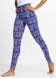 Functionele legging, bpc bonprix collection, gentiaanblauw gedessineerd