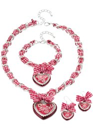 Sieradenset «Oktoberfest», bpc bonprix collection, rood/wit collier