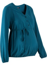 Zwangerschapsblouse, bpc bonprix collection, blauwpetrol