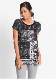 Shirt, BODYFLIRT, zwart/wit gedessineerd