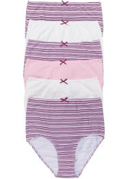 Tailleslip (set van 6), bpc bonprix collection, roze gestreept