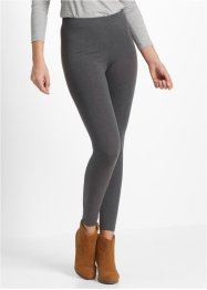 Legging (set van 2), bpc bonprix collection, antraciet gemêleerd+zwart