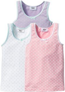 Hemdjes (set van 3), bpc bonprix collection, wit/roze/lila/mint