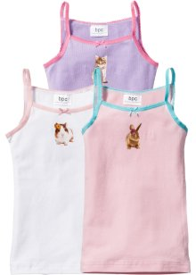 Hemdje (set van 3), bpc bonprix collection, roze/lila/wit