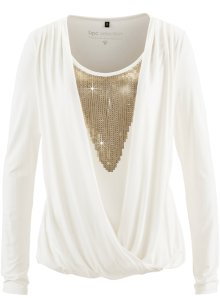 Shirtblouse, bpc selection, wolwit/goudkleur