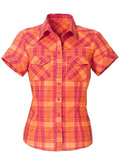Blouse, bpc bonprix collection, framboise/oranje geruit