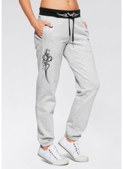 Joggingbroek, bpc bonprix collection, lichtgrijs gemêleerd