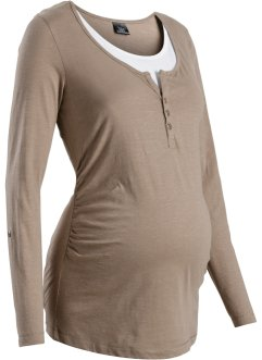 Voedingsshirt, bpc bonprix collection, taupe