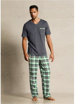Pyjama, bpc bonprix collection, antraciet geruit