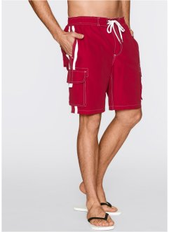 Strandbermuda regular fit, bpc bonprix collection, donkerrood