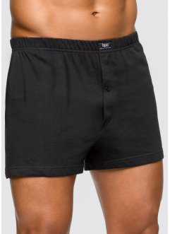 Ruime boxershort (set van 3), bpc bonprix collection, effen zwart