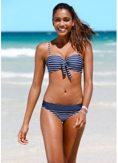 Beugel bikinitop, bpc bonprix collection, donkerblauw/wit