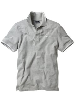 Poloshirt, bpc bonprix collection, lichtgrijs gemêleerd