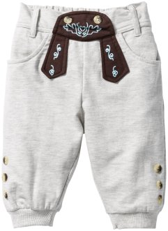 Sweatbroek, bpc bonprix collection, ecru gemêleerd met print