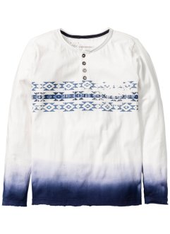 Longsleeve, bpc bonprix collection, wolwit/donkerblauw