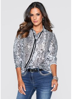 Blouse, bpc selection, grijs slangenprint