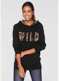 Sweatshirt, bpc bonprix collection, zwart luipaardprint