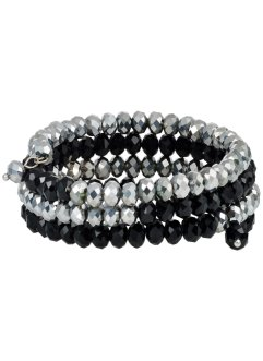 Armband, bpc bonprix collection, grijs/zwart