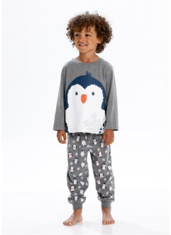 Pyjama (2-dlg. set), bpc bonprix collection, grijs gemêleerd