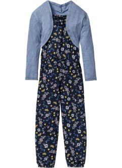Jumpsuit+bolero (2-dlg. set), bpc bonprix collection, donkerblauw gedessineerd