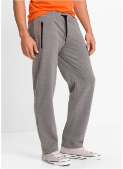 Joggingbroek regular fit, bpc bonprix collection, grijs gemêleerd
