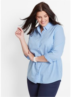 Blouse, bpc bonprix collection, parelblauw